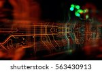 circuit board background  can... | Shutterstock . vector #563430913