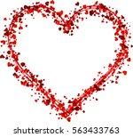 valentine's love background...   Shutterstock .eps vector #563433763
