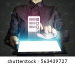 concept of online testing ... | Shutterstock . vector #563439727