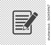 document with pencil pictogram... | Shutterstock .eps vector #563454967