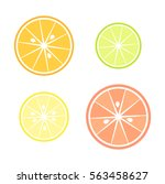 citrus slices   orange ... | Shutterstock .eps vector #563458627