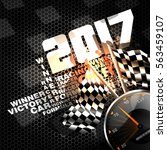 abstract racing checkered... | Shutterstock .eps vector #563459107