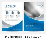 brochure template flyer design... | Shutterstock .eps vector #563461387
