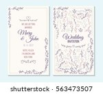 wedding invitation  thank you... | Shutterstock .eps vector #563473507