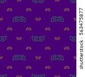 mardi gras seamless pattern...   Shutterstock .eps vector #563475877