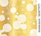 vector golden abstract swirls... | Shutterstock .eps vector #563477977