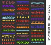 collection of hand drawn... | Shutterstock .eps vector #563486737