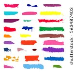 color vector brush strokes of... | Shutterstock .eps vector #563487403