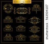 vector set of vintage banners ... | Shutterstock .eps vector #563504107