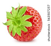 strawberry isolated on white... | Shutterstock . vector #563507257