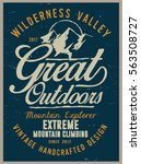 vintage vector of wilderness... | Shutterstock .eps vector #563508727