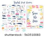 grunge artistic brush strokes... | Shutterstock .eps vector #563510083