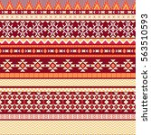 ethnic seamless pattern with... | Shutterstock .eps vector #563510593