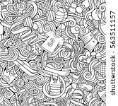 cartoon cute doodles hand drawn ...   Shutterstock .eps vector #563511157