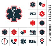 life star snake icon  medical... | Shutterstock .eps vector #563517883