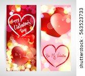 valentine. cards. | Shutterstock .eps vector #563523733