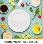healthy food background with... | Shutterstock . vector #563526037