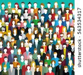 the crowd of abstract people.... | Shutterstock .eps vector #563534317