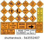 road signs in the united states....   Shutterstock .eps vector #563552407