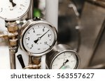 industrial barometer  close up... | Shutterstock . vector #563557627