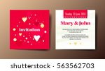 square red elegant invitation... | Shutterstock .eps vector #563562703