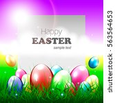 beautiful easter greeting card... | Shutterstock .eps vector #563564653