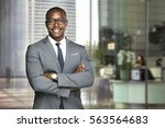 happy company leader ceo boss... | Shutterstock . vector #563564683