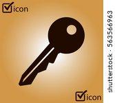 key icon. lock symbol. security ...
