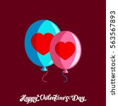 happy valentine day objects.... | Shutterstock .eps vector #563567893