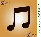 music note icon. character...