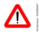 road signs and objects on the... | Shutterstock .eps vector #563580667