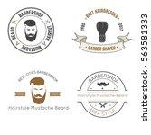 set vector logo  barbershop | Shutterstock .eps vector #563581333