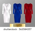 women's dress mockup collection.... | Shutterstock .eps vector #563584357