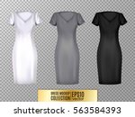 women's dress mockup collection.... | Shutterstock .eps vector #563584393