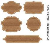 collect retro wooden board... | Shutterstock . vector #563587693