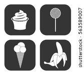 dessert icons vector set on... | Shutterstock .eps vector #563589007