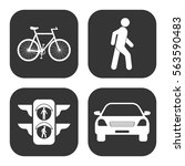 transportation icons  bicycle... | Shutterstock .eps vector #563590483