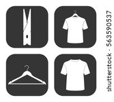 man's clothes icons vector set... | Shutterstock .eps vector #563590537