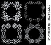 set square ornamental... | Shutterstock .eps vector #563592217