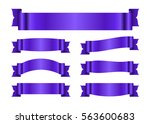 ribbon purple banners set. sign ... | Shutterstock .eps vector #563600683
