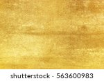 shiny yellow leaf gold foil... | Shutterstock . vector #563600983