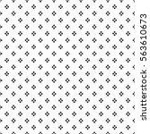 black dense rhombus dots...   Shutterstock .eps vector #563610673