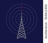 Radio Tower Icon. Radio Day...