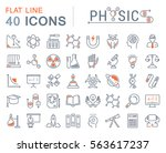 set vector line icons  sign and ... | Shutterstock .eps vector #563617237