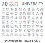 set vector line icons  sign and ... | Shutterstock .eps vector #563617273