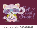 vector get well soon... | Shutterstock .eps vector #563620447