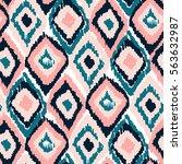 vector colorful tribal ethnic... | Shutterstock .eps vector #563632987