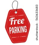 free parking red leather label... | Shutterstock .eps vector #563633683