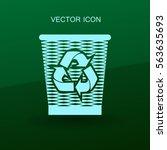 bin vector icon | Shutterstock .eps vector #563635693
