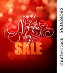 valentines day sale  poster... | Shutterstock .eps vector #563636563